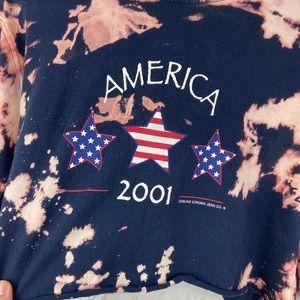 Vintage Tops - Vintage 2001 America Crop Top